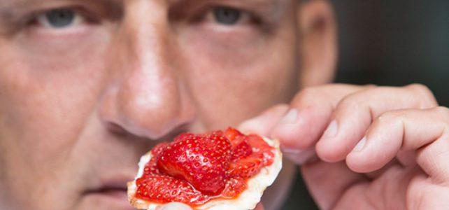 Tip van de chef, nougat met aardbeien